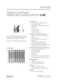 WIDEX CLEARTM440 MIkRo-HDo-HöRsystEM MIt C-ISP C4-m-CB