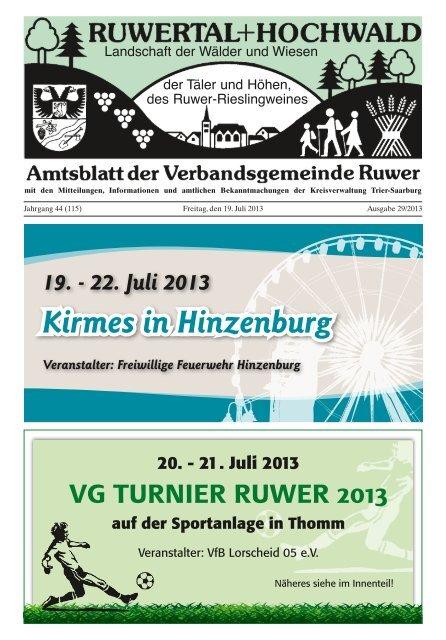 Kirmes in Hinzenburg Verbandsgemeinde Ruwer