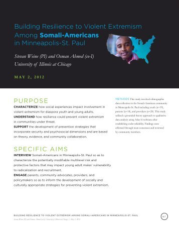Building Resilience to Violent Extremism Among Somali-Americans ...