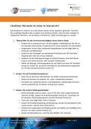 Checkliste: Wie kaufe ich sicher im Internet ein? - eBusiness Lotse ...