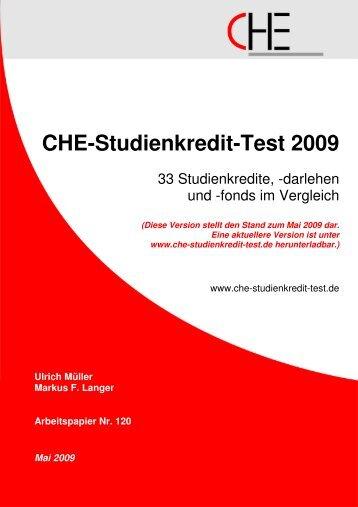 Che-Studienkredit-Test 2009 - Centrum für Hochschulentwicklung
