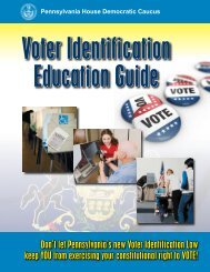 voter id education guide - Pennsylvania House Democrats