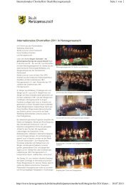 Internationales Chortreffen 2011 in Herzogenaurach ... - Wolfsberg