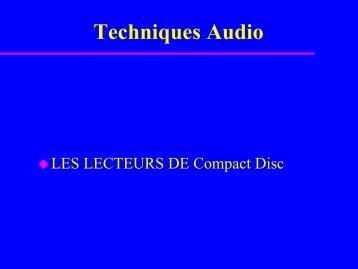 LES LECTEURS de Compact Disc - Uuu.enseirb.fr