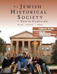 2009 Fall - Jewish Historical Society of South Carolina