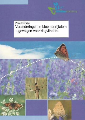 Veranderingen in bloemenrijkdom - Vlindernet