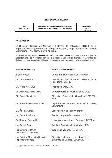 PROYECTO DE NORMA