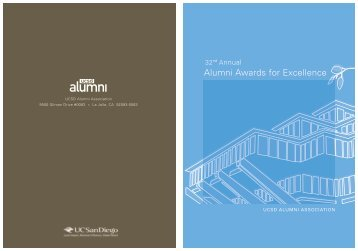 Alumni Awards for Excellence - UCSD Alumni - UC San Diego