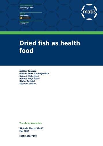 Dried fish as health food - Matís