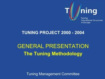TUNING METHODOLOGY