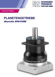 spn® - planetengetriebe spn®-planetary gears