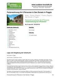 Ferienwohnung für 6 Personen in San Donato in ... - Outdoor-Touristik