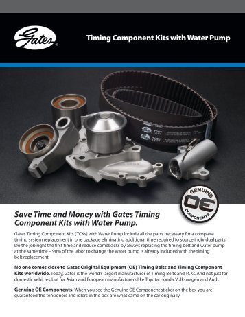 Save Time and Money with Gates Timing Component Kits with ...