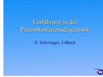 Einführung in die Präimplantationsdiagnostik