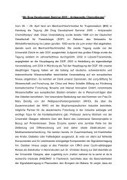"""6th Drug Development Seminar 2005 – Antiparasitic Chemotherapy ..."
