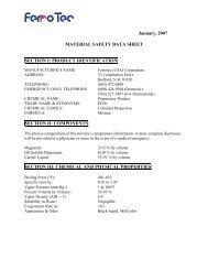January, 2007 MATERIAL SAFETY DATA SHEET ... - Prof Bunsen