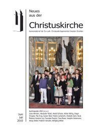 Rückblick - Ev.-Luth. Christuskirche Dresden-Strehlen