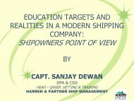 SHIPOWNERS POINT OF VIEW