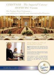 GERSTNER - The Imperial Caterer HOFBURG Vienna