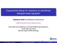 Exponential decay for solutions to semilinear damped wave equation