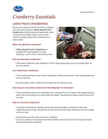 Cranberry Essentials - Ocean Spray