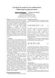 119. Investigação da Condução de Calor Unidimensional e ... - sbmac