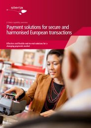 Payment solutions for secure and harmonised European ... - Steria