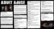 What is Adult Abuse? - Department of Health, Social Services and ...
