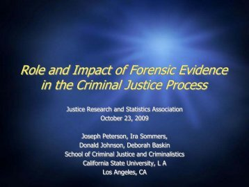 the role of standards of proof in criminal justice Criminal or civil standard of proof  different standards of proof are constructed  where reasonable doubt is the standard of proof in criminal cases, .