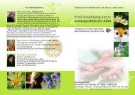 Profi-Ausbildung zur/m AromapraktikerIn AiDA - Eliane Zimmermann