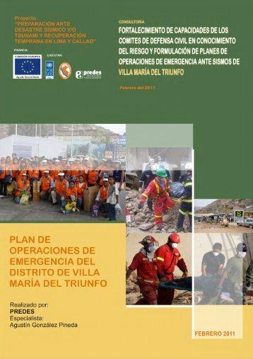 Plan de operaciones de emergencia del distrito de Villa María del ...