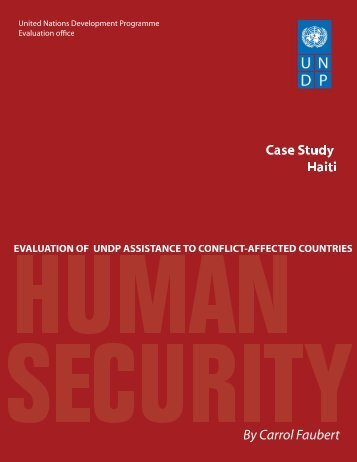 case study Haiti - United Nations Development Programme