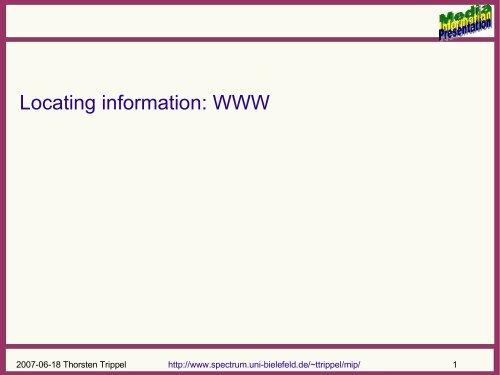 Presentation in PDF - Computational Linguistics and Spoken ...