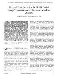 Unequal Error Protection for SPIHT Coded Image Transmission over ...