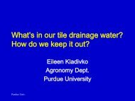 What's in Our Tile Drainage Water and How Do We Keep it Out?