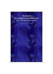 Das Buch des Längeren und Kürzeren - Teil I _ Texte zu Religion und Weisheit