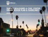 sunset boulevard & civic center urban design plan ... - CRA/LA