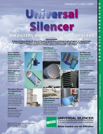 AIR FILTERS AND INDUSTRIAL SILENCERS