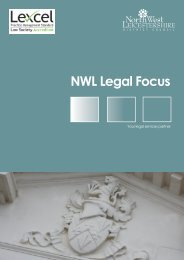 Legal Services Brochure - North West Leicestershire District Council