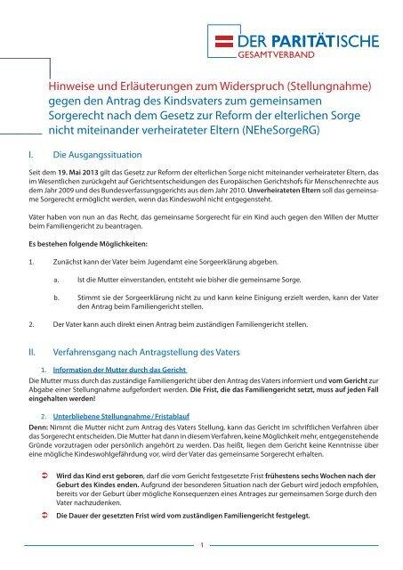 Download Erlaeuterungen Formular Sorgerecht Pdf