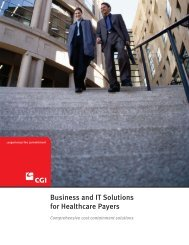 Business and IT Solutions for Healthcare Payers - CGI