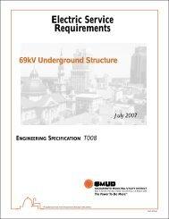 69kV Underground Structure – Engineering Specification T008
