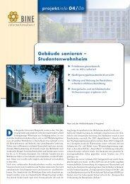 203 KB - Energetische Sanierung der Bausubstanz - EnSan