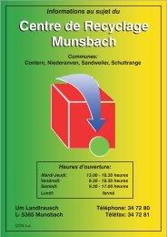 Centre de Recyclage Munsbach Centre de Recyclage Munsbach