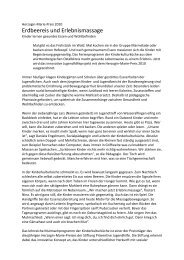 Erdbeereis und Erlebnismassage - Stiftung Präventive Jugendhilfe