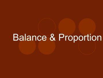 Balance & Proportion