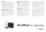 Info-Flyer über den aromed-Vaporizer von Research Experience