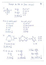 matemática gabarito 1 - Colégio Guilherme de Almeida