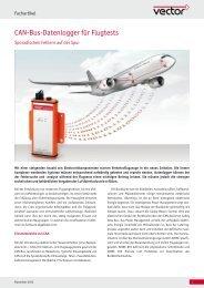 CAN-Bus-Datenlogger für Flugtests - Sporadischen Fehlern ... - Vector