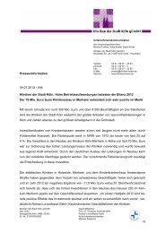 zur Bilanz 2012 - Kliniken der Stadt Köln gGmbH